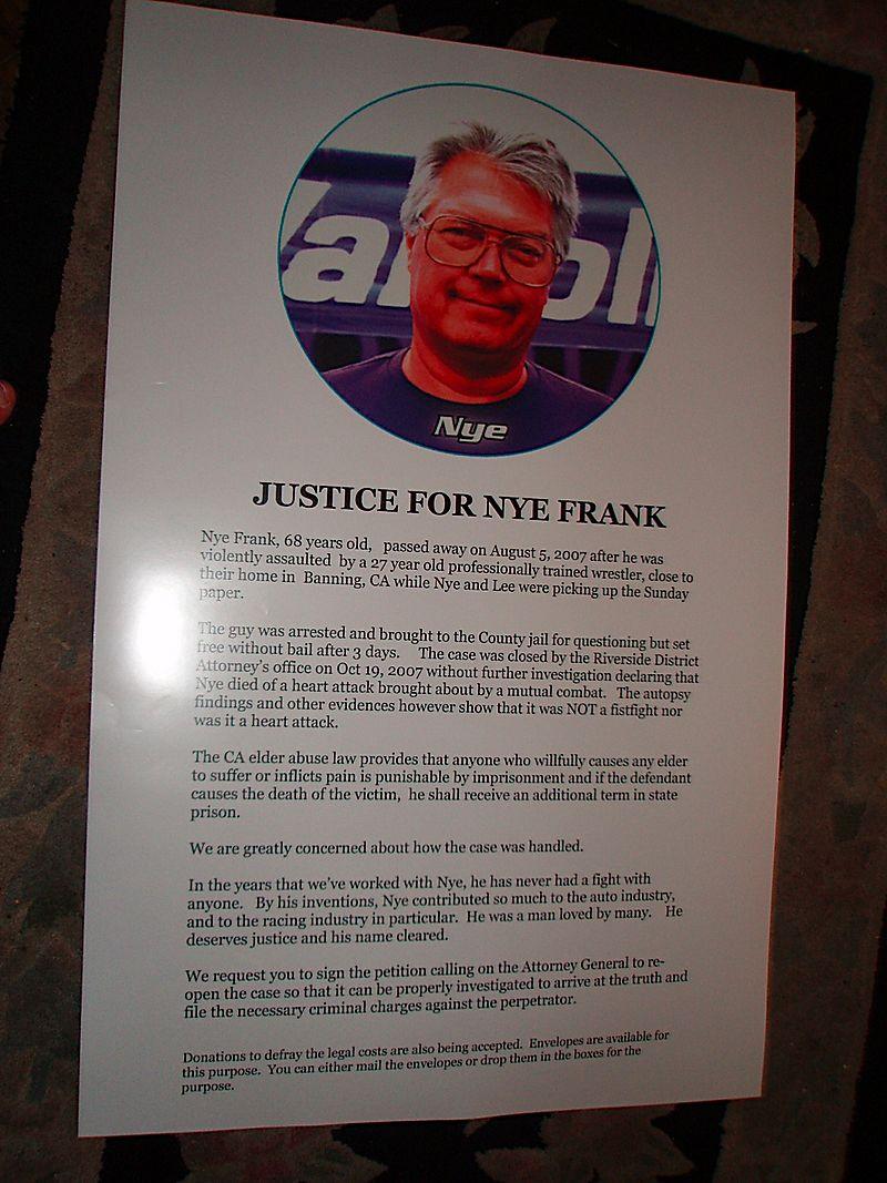 Justice for Nye Frank